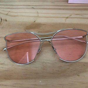 Handmade sunglasses in pink